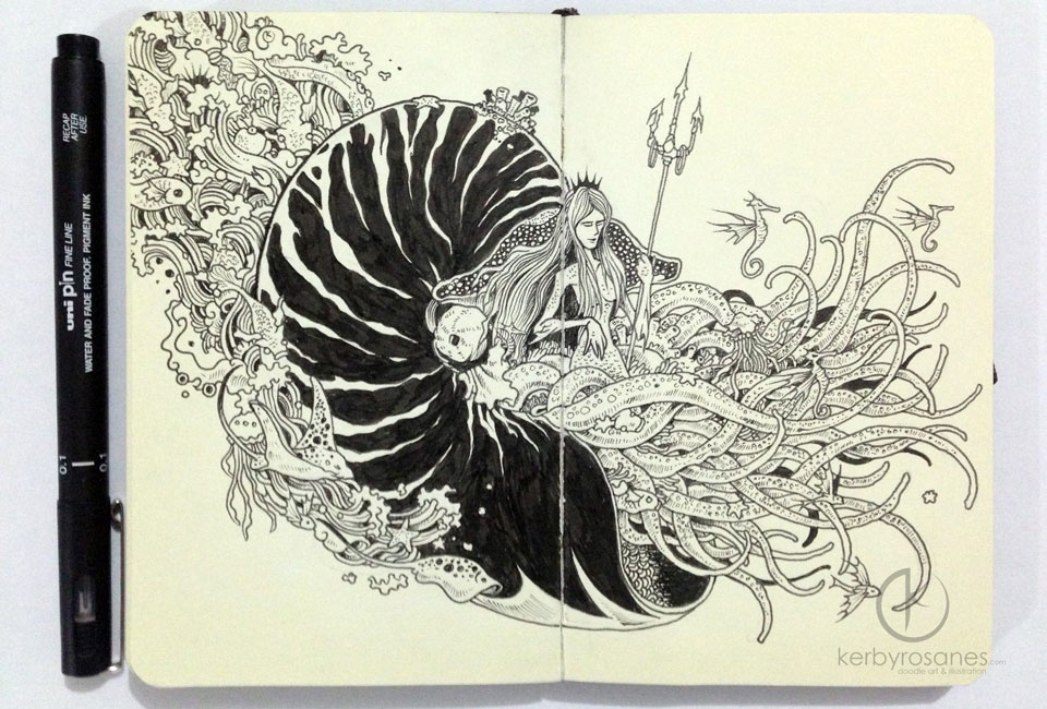 Young Pinoy Artist Kerby Rosanes Tells Stories With Doodles
