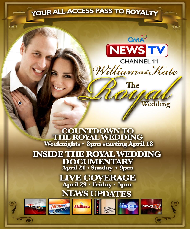 Gma Latest News Update: All-access Pass To British Royal Wedding On GMA News TV