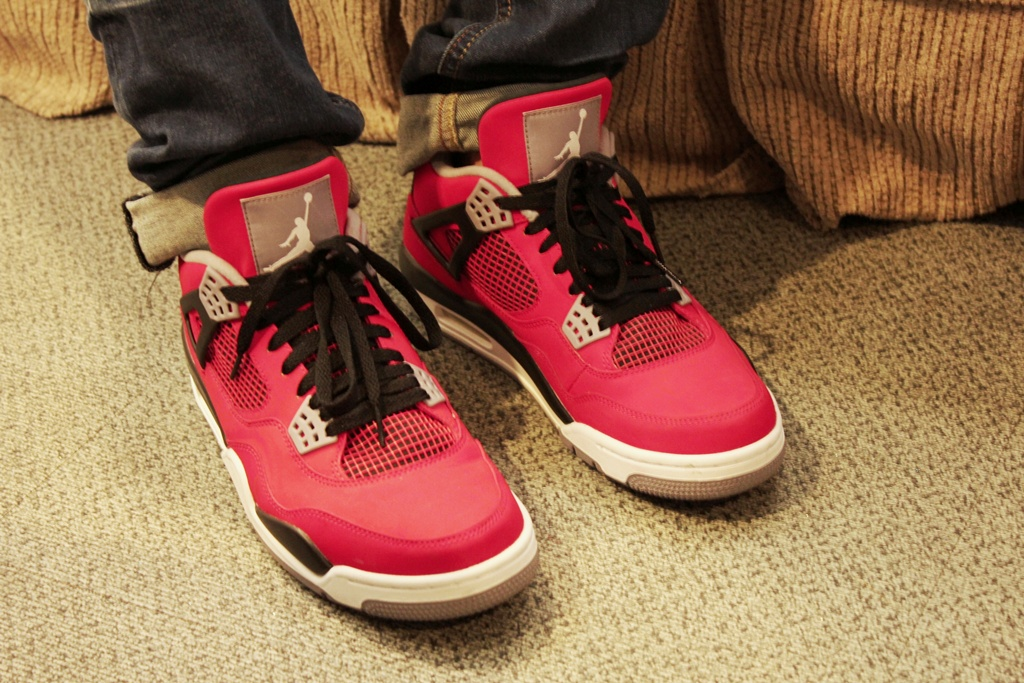 The anticipated Air Jordan 4 Toro's. Yet to be officially released in  October 2013