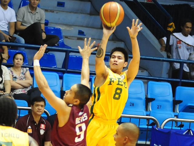 RR Garcia (R) made sure FEU went awa y with the win, hitting a big