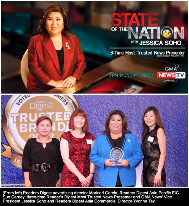 17 Best Images About Fashion Monitor Journalism Awards: Jessica Soho Is 'Most Trusted News Presenter' For The 3rd