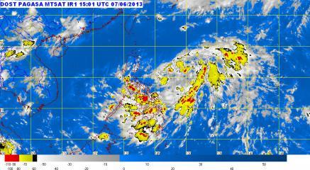 Tropical Depression Dante brings rain, thunderstorms