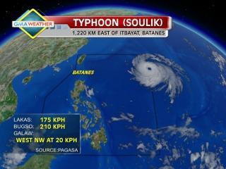 Typhoon Soulik enters PAR, codenamed Huaning
