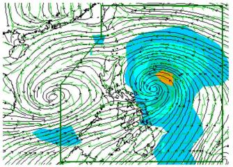 Typhoon Labuyo from the east, monsoon and possible LPA to the west