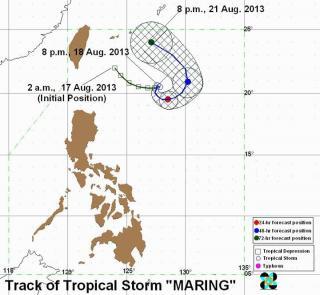 Erratic Maring lingers northeast of Batanes