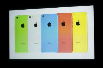iPhone 5C comes in five colors, iPhone 5S in three colors