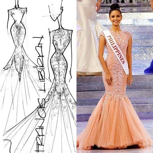 Sneak Peak On Catriona Gray S Long Gown