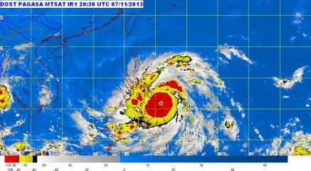 Yolanda landfall in Eastern Samar, heralded by high sto