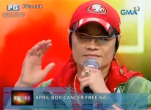 Sakit na cancer, nalampasan ni April Boy Regino | Showbiz | GMA News Online - 2013_12_21_17_27_43
