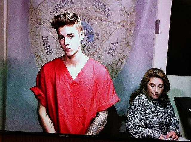 Justin bieber case cops say video shows him peeing