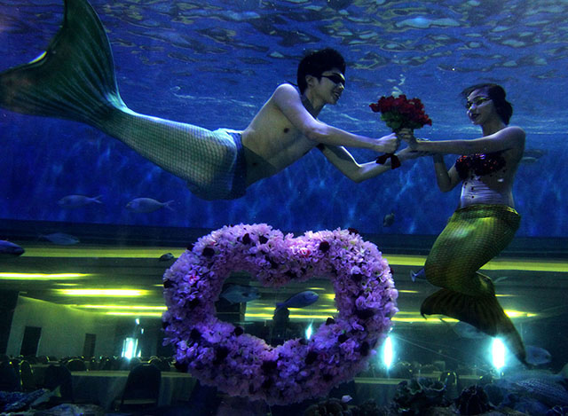 Mermaid, merman fall in love in Manila | Photos | GMA News ...