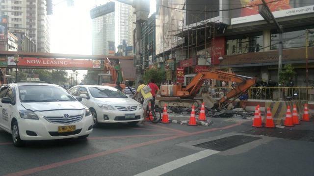 Traffic slows along España Blvd  as road improvement starts