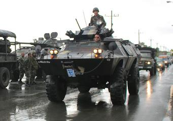 Military arrives in Tondo for logistics run