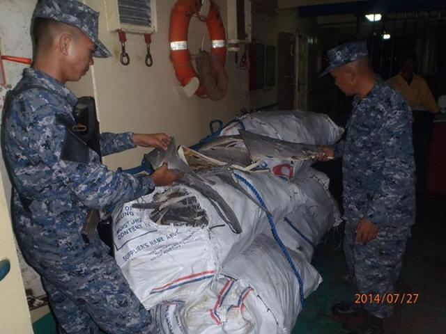 Coast guard bfar recover 2 000 kilos of shark skin in for Bureau zamboanga