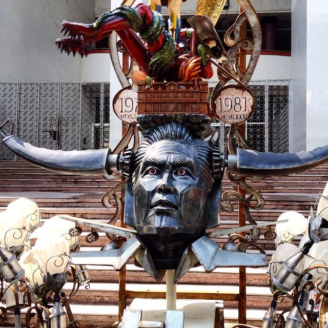 LOOK: Marcos as Voltes V\'s Boazanian enemy in UP art installation ...