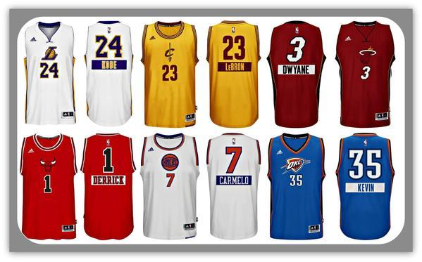 6bb6b8ada3b LOOK  NBA s Christmas Day uniforms feature players  first names ...