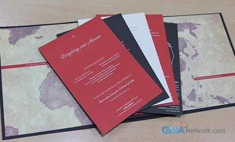 Look inside dingdong and marians wedding invitation showbiz d a boy who hails from manila stopboris Choice Image