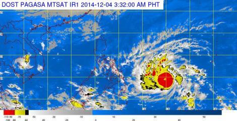 Typhoon Hagupit enters PAR Thursday morning
