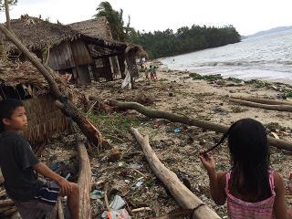 Ruby damages houses in Matnog coastal villages
