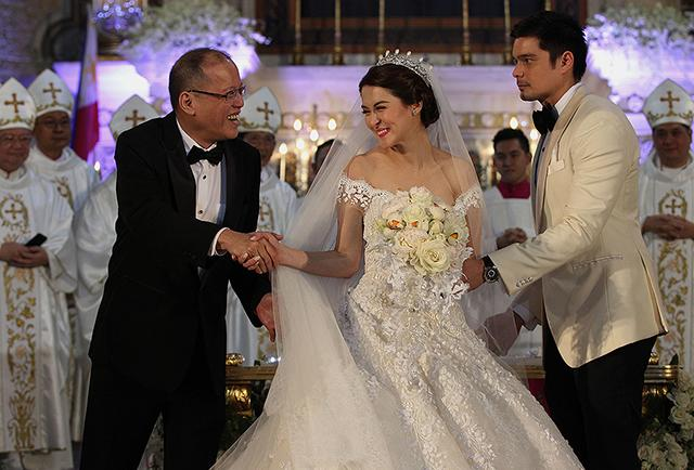 PNoy at DongYan wedding - GMA News Online