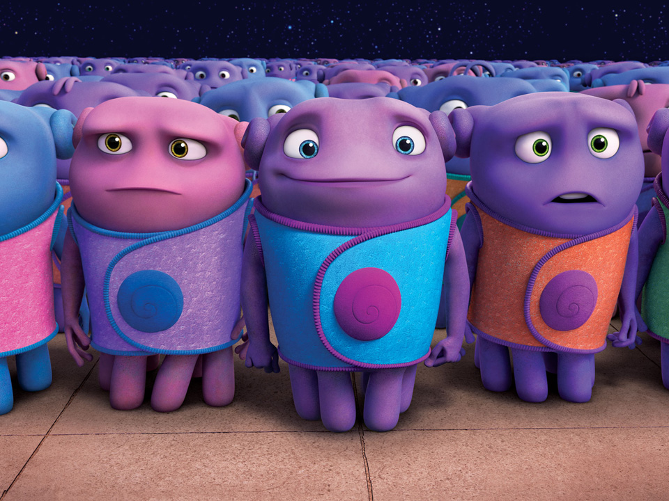 Meet the boov from dreamworks animation s home for Wallpaper home 2015