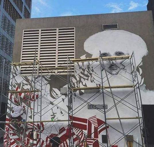 Watch murals taking shape in bonifacio global city for Bonifacio mural