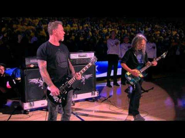 WATCH: Metallica performs US national anthem at Game 5 of NBA Finals | Showbiz | GMA News Online