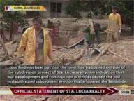 24oras:  Pahayag ng Sta. Lucia Realty sa Subic mudslide