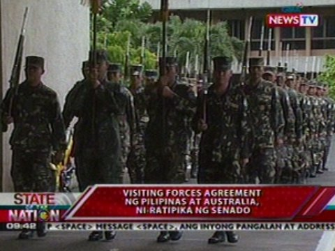 visiting forces agreement A majority of senators want a review of the visiting forces agreement (vfa) with the united states, with the objective of amending certain provisions of the treaty, particularly on criminal.