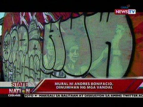 Mural ni andres bonifacio dinumihan ng mga vandal video for Bonifacio mural