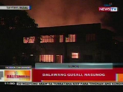 2 gusali sa taytay rizal nasunog video gma news online for 8 salon taytay rizal