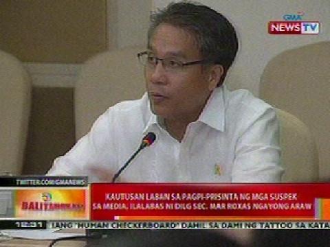Balitanghali: Kautusan vs pagpi-prisinta ng mga suspek sa media