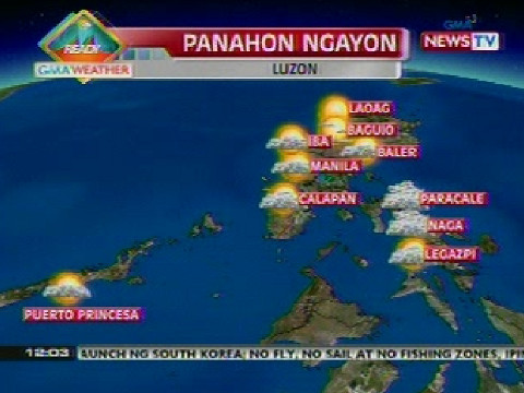 Weather update as of 12:03 p.m. (Jan 29, 2013) | Balitanghali | GMA
