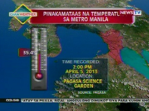 Weather update as of 3:58 p.m. (Apr 5, 2013) | Balita Pilipinas | GMA