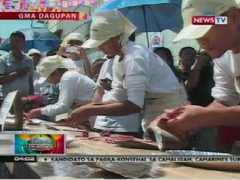 Eating contests sa Bangus Festival at Daragang Magayon Festival