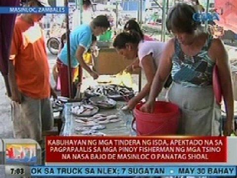 Kabuhayan ng mga tindera sa Zambales, apektado na sa pagpapaalis sa