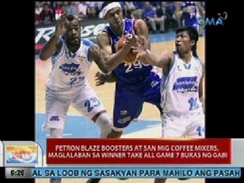 Unang Balita: Petron Blaze Boosters at San Mig Coffee Mixers