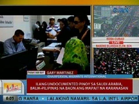 Unang Balita: Ilang undocumented Pinoys sa Saudi, balik-PHL na baon
