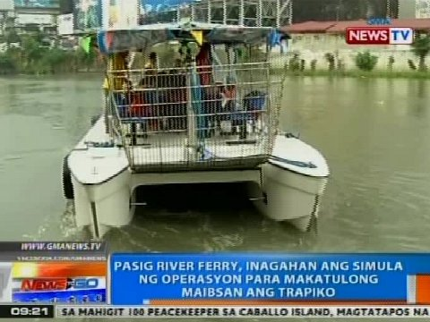 Pasig River Ferry Schedule Pasig River Ferry Inagahan