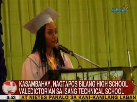 Unang Balita: Kasambahay, nagtapos bilang HS Valedictorian sa isang