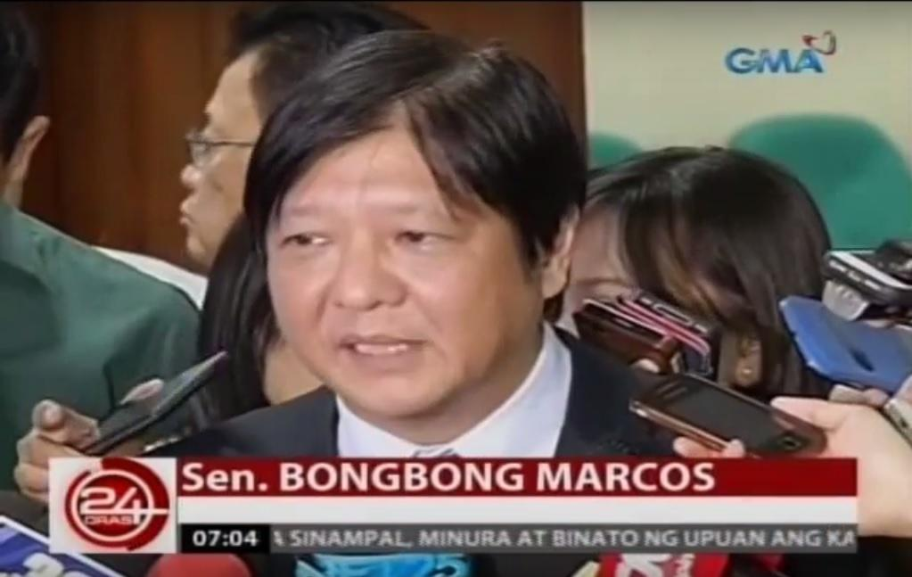 Bongbong Marcos in talks with Binay, Duterte camps | News | GMA News ...