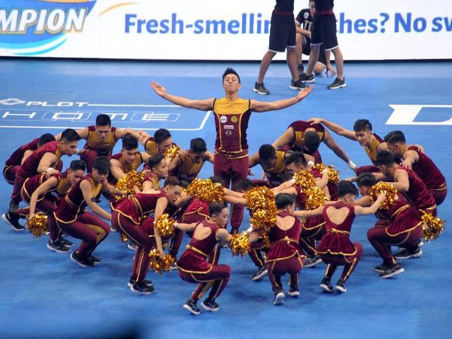 The UP Pep Squad at this year's UAAP cheerdance competition. KC Cruz