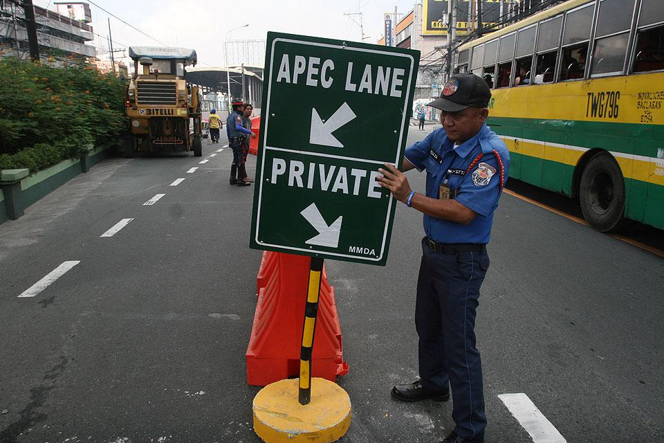 Several Manila roads closed starting Monday due to APEC