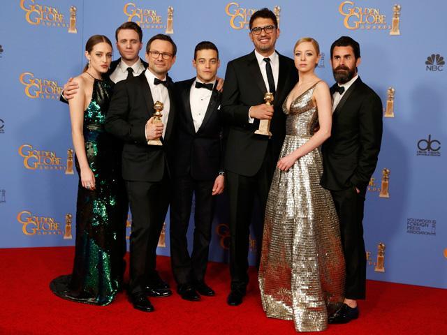 Old TV favorites swept aside at Golden Globes as hackers, musicians rule