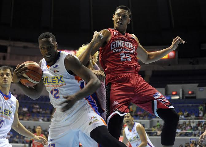 765445f95b6 Al Thornton of NLEX secures the ball in a rebound play. KC CRUZ
