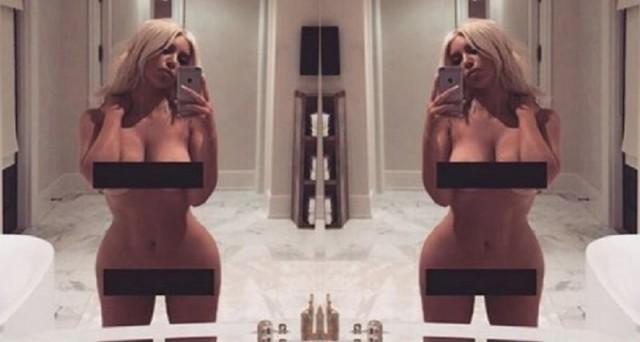 Kim Kardashian Tweets Naked Selfie, Again - AskMen
