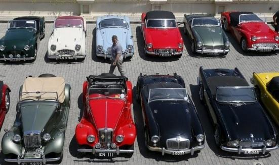 Vintage Cars Feature In British Car Day Lifestyle Gma News