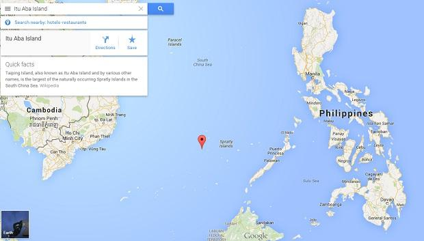 Google Map Shows How Proximate Ligao Itu Taba Island Is To The Philippines Than