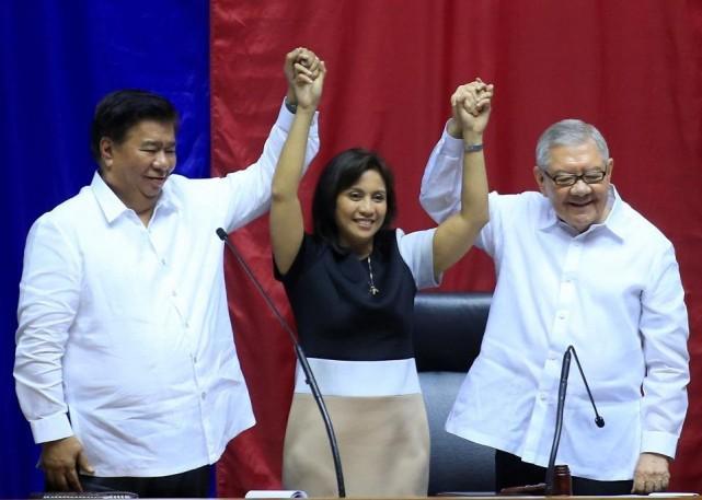 Leni Robredo is proclaimed vice president. REUTERS/Romeo Ranoco