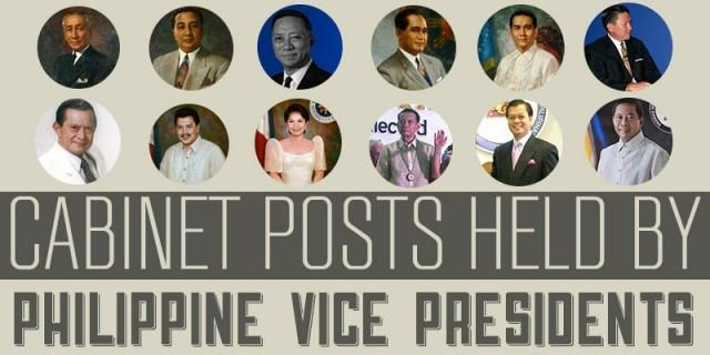 Cabinet posts held by Philippine Vice Presidents | News | GMA News ...